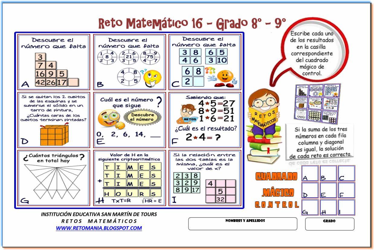 c511f405a RETOS MATEMÁTICOS - CUADRADOS MÁGICOS
