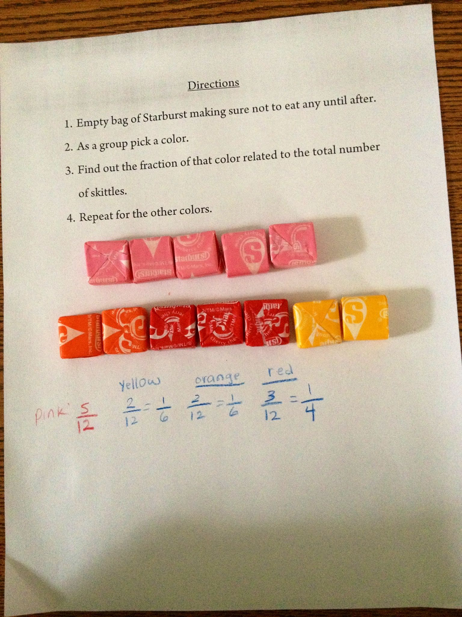 Fractions With Starburst 4 1 Number Amp Operations