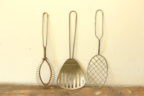 Vintage Metal Wire Kitchen Tools Vintage Metal Kitchen Tools