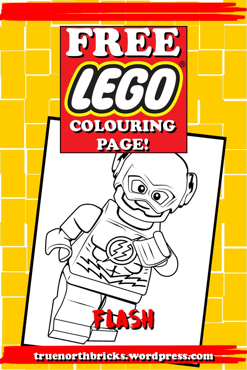 LEGO Colouring Page – The Flash