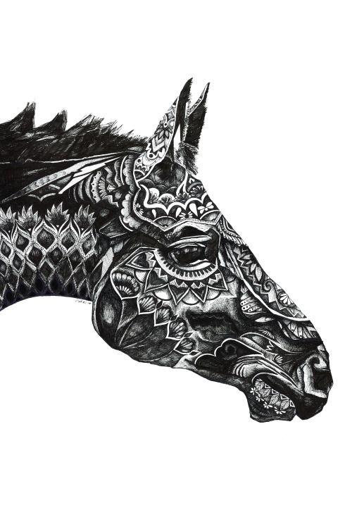 Tumblr Animal Drawings Bing Images Tatuagem De Cavalo Animais