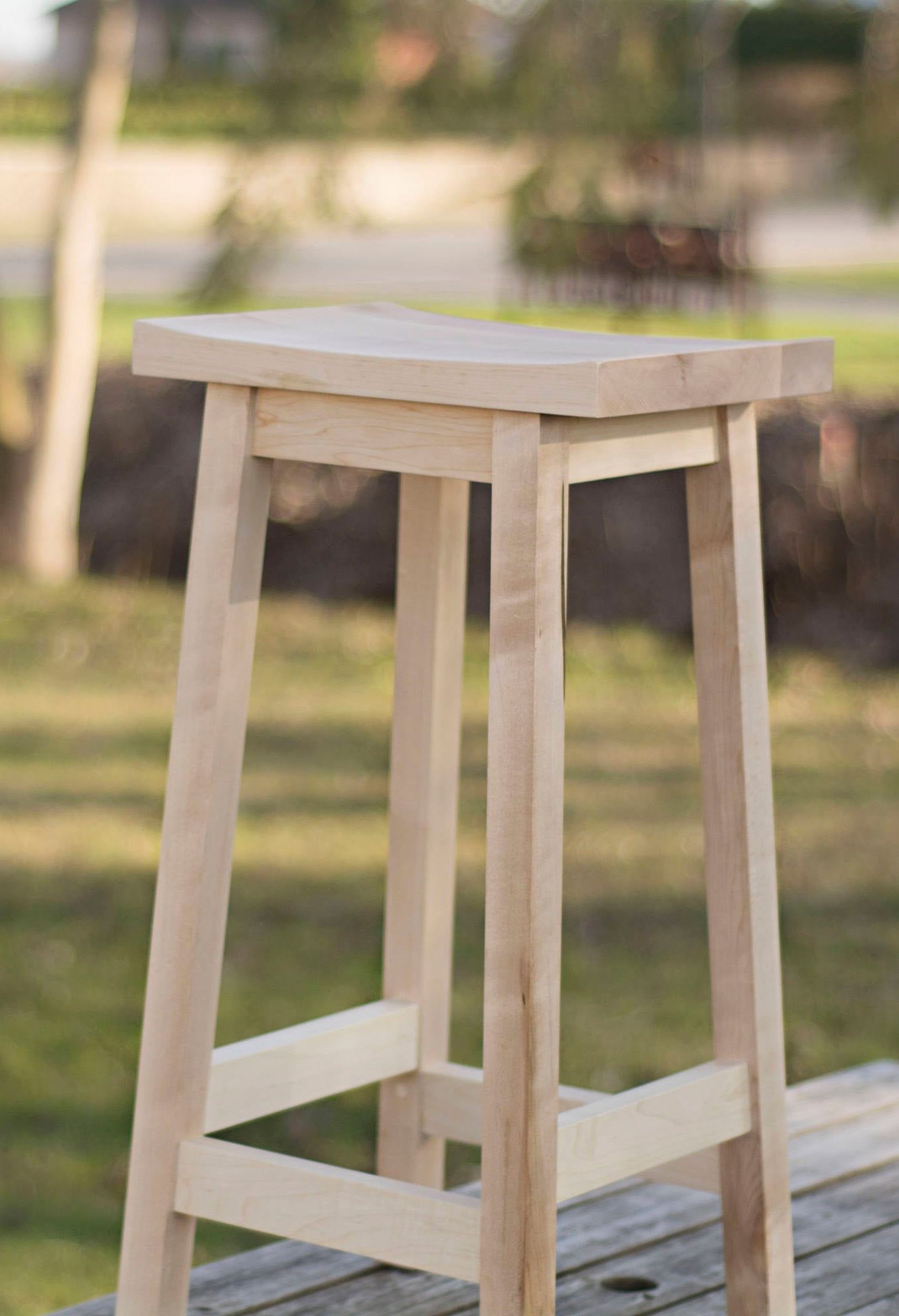 Counter Height Stool In Maple Wood By Adhwoodwork Great For Bar