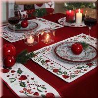 2 sander gobelin weihnachtstischsets candied x mas weihnachts deko pinterest weihnachten. Black Bedroom Furniture Sets. Home Design Ideas