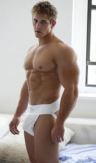 Endowed jockstraps man wearing well