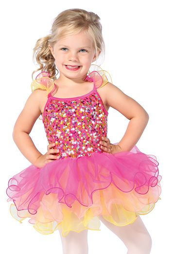 435a2adf0b07 You will have a blast wearing this Tutti Frutti costume! Ruffled ...