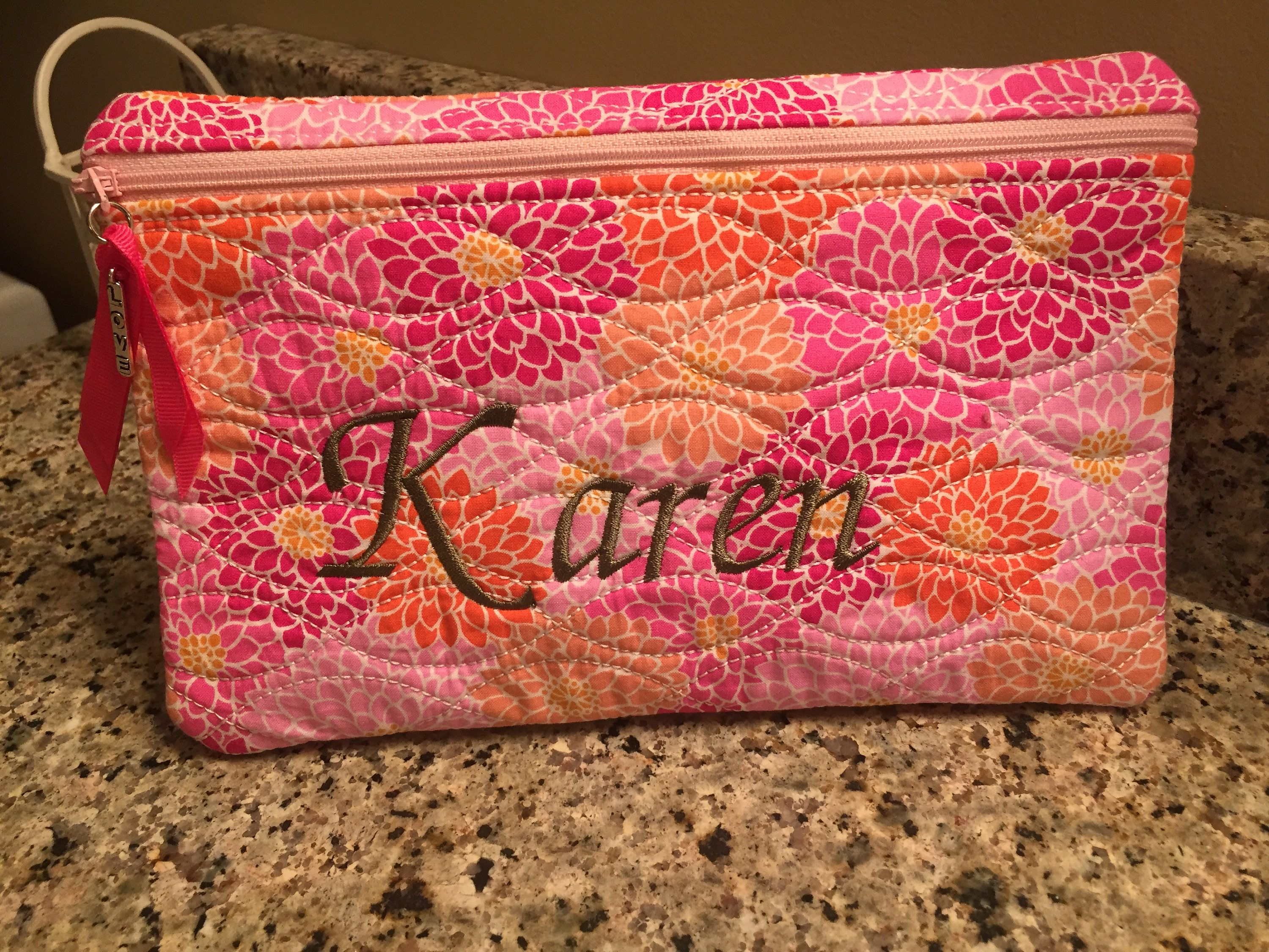 Monogrammed Hanging Toiletry Bag