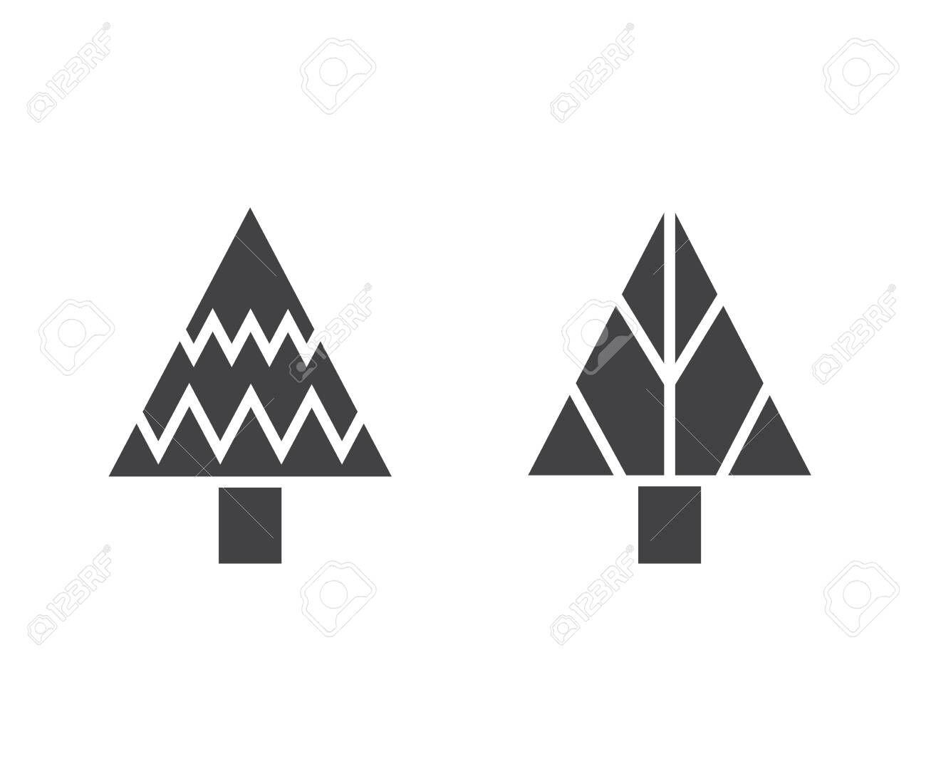 Christmas Tree Icons Ad Christmas Tree Icons Tree Icon Typography Design Layout Typography Design