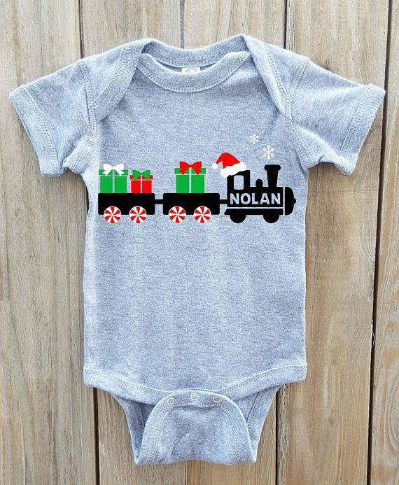 d5edf300e Boys Christmas shirt, train shirt, Christmas shirt, toddler christmas shirt,  christmas onesie