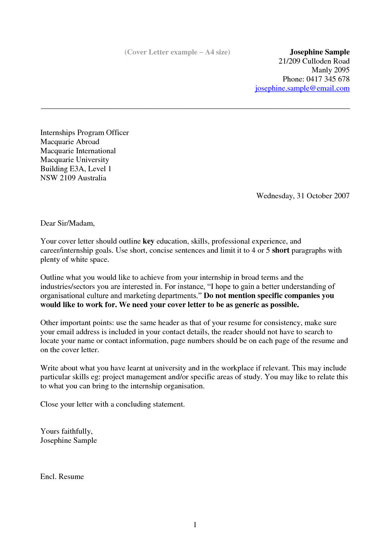 How To Write A Cover LetterSimple Cover Letter Application Letter Sample  Free Cover Letter Format