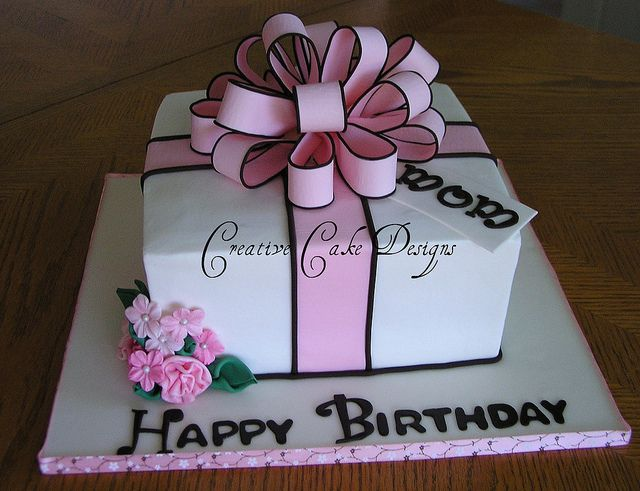 Pink Present Cake In Buttercream By Creative Designs Christina Via Flickr