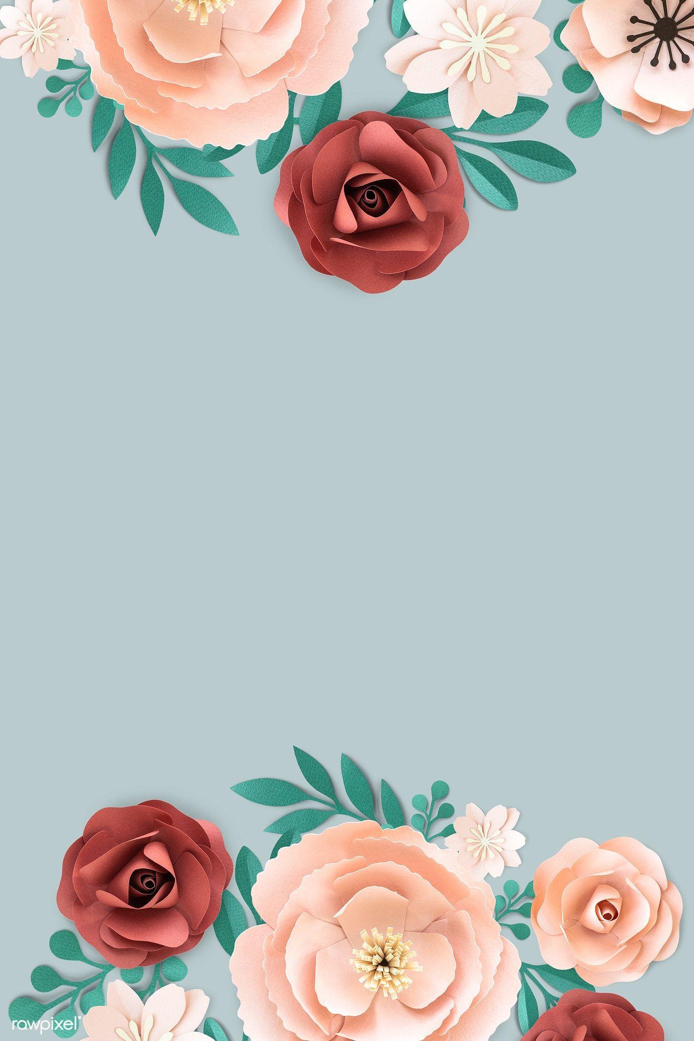 Download premium psd of Blooming floral frame design