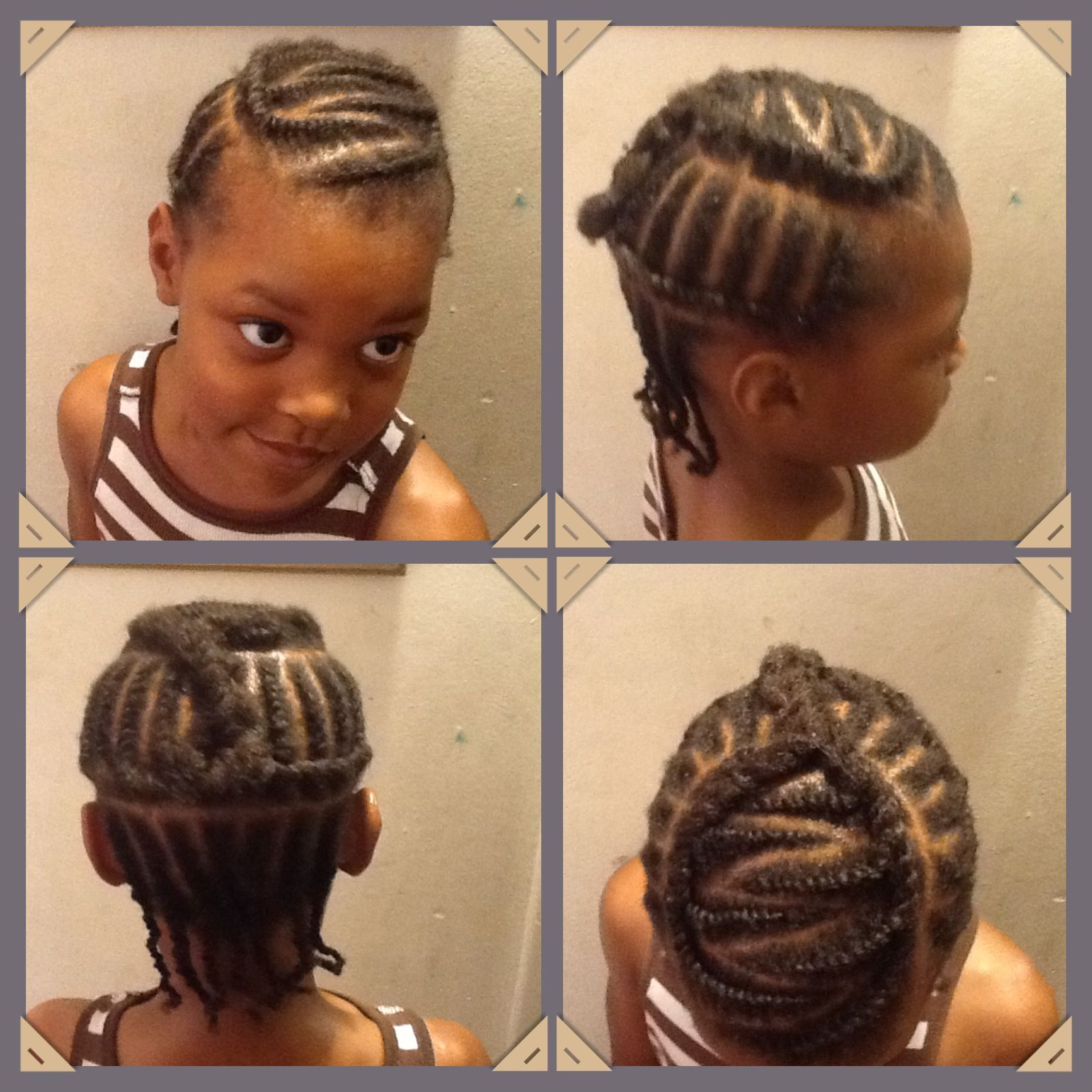 flat twist for protective little girl hair style on 4c natural