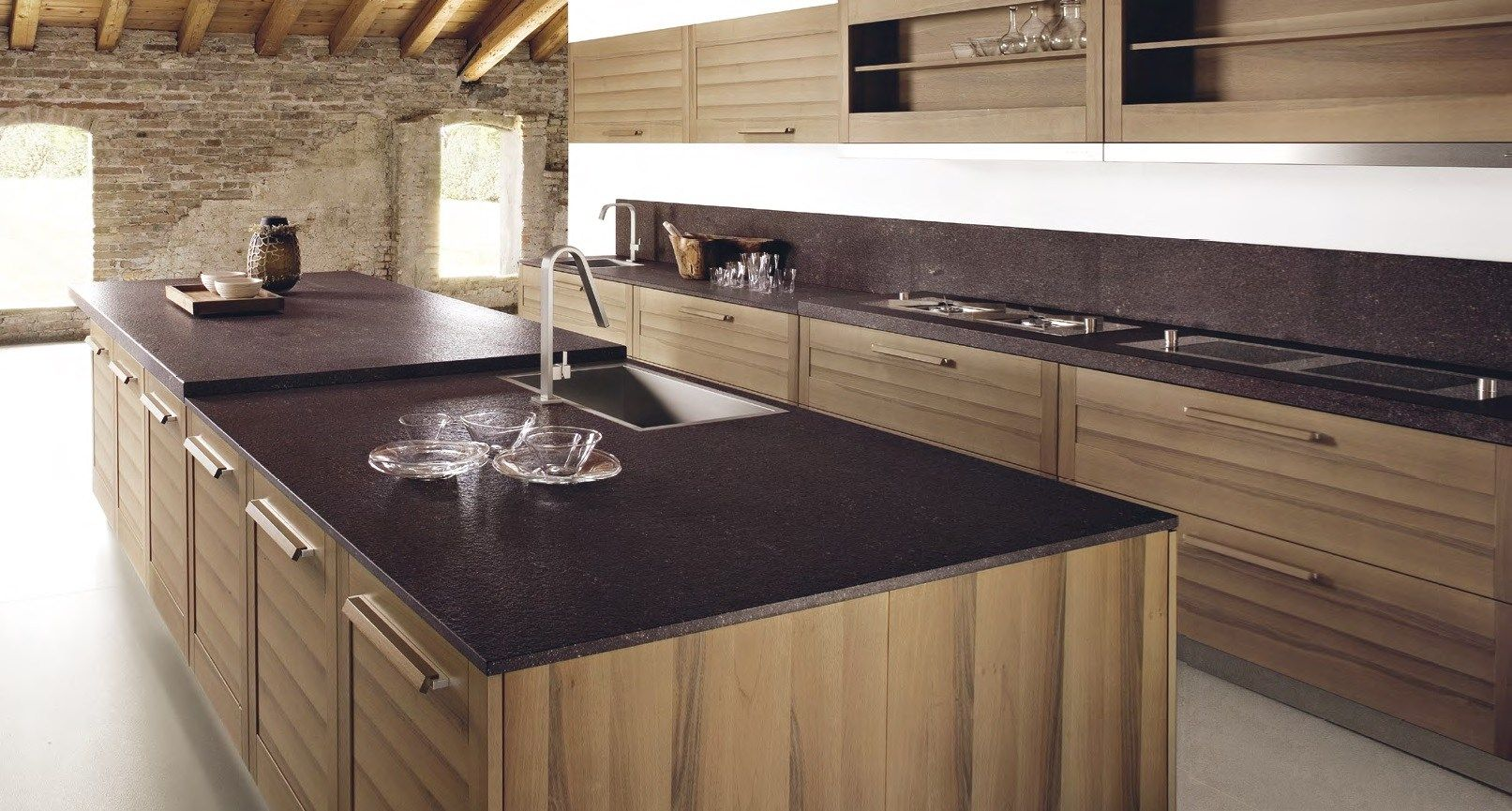 Cuisine design bois massif cuisine pinterest bois massif massif et bois - Cuisine en bois design ...