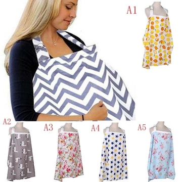 Baby Mum Breastfeeding Nursing Poncho Udder Cover Up Cotton Blanket Shawl Covers