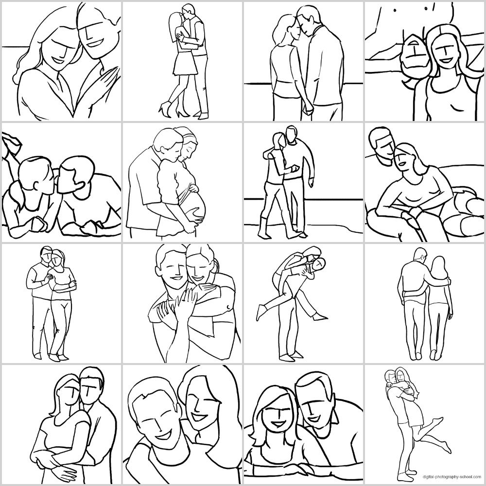 Posing Guide 21 Sample Poses For Photographing Couples Photography Posing Guide Posing Guide Couple Photography
