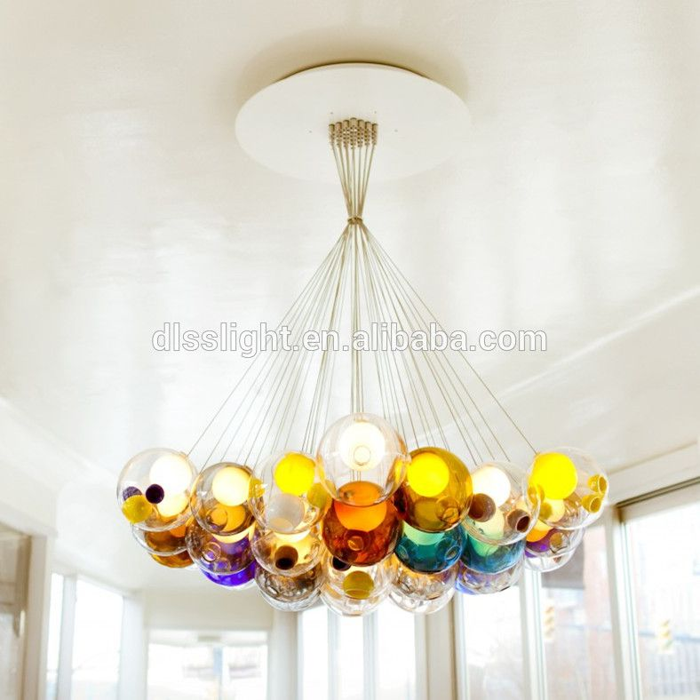 Colored glass balls lamp italian modern restaurants multi colored glass balls lamp italian modern restaurants multi colored glass ball chandelier lighten up pinterest modern restaurant coloured glass aloadofball Image collections
