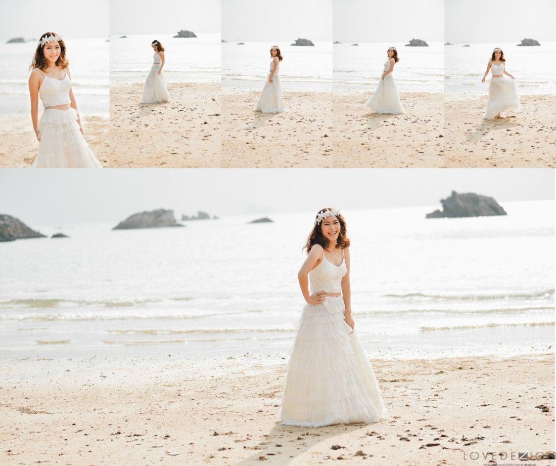 Pre wedding beach  pre wedding photography at Tubkaek beach Krabi photography by