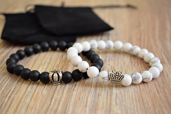 90f301064d8c4 King queen set king and queen bracelets couples king queen matching ...
