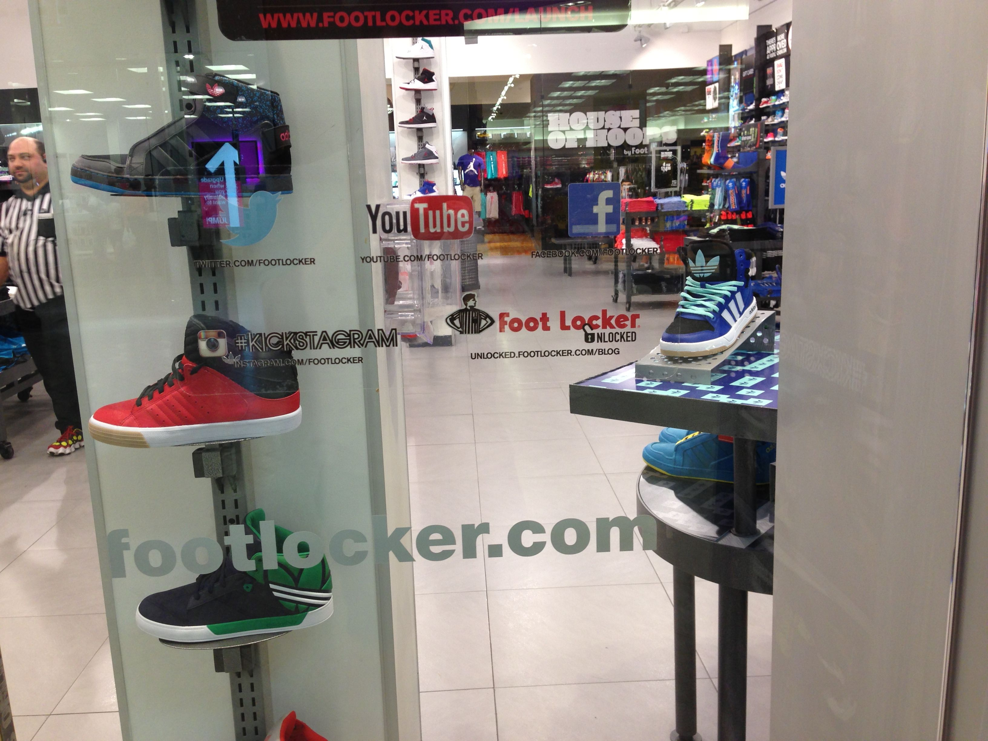 apply for a job at foot locker during the nba lockout foot foot locker >> mall store window >> captured 7 2013 in holyoke