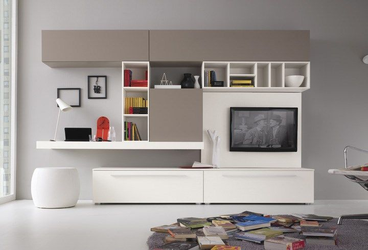 Pin de INDESA Muebles en Wall Units Pinterest Entretenimiento - muebles de pared
