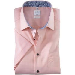 Olymp Luxor Kurzarmhemd, comfort fit, New Kent, Mandarin, 44 Olymp