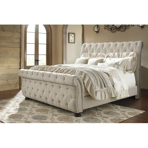 Found It At Wayfair Althea Upholstered Sleigh Bed Queen Upholstered Bed Sleigh Bed Master Bedroom King Upholstered Bed