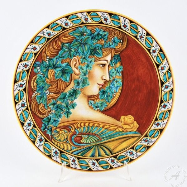 Italian Wall Plate Art Nouveau by F. Niccacci, Deruta | thatsArte ...