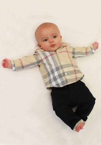 56bb3ab6e designerhchildrenswear  burberry  baby  boys  outfit  cute