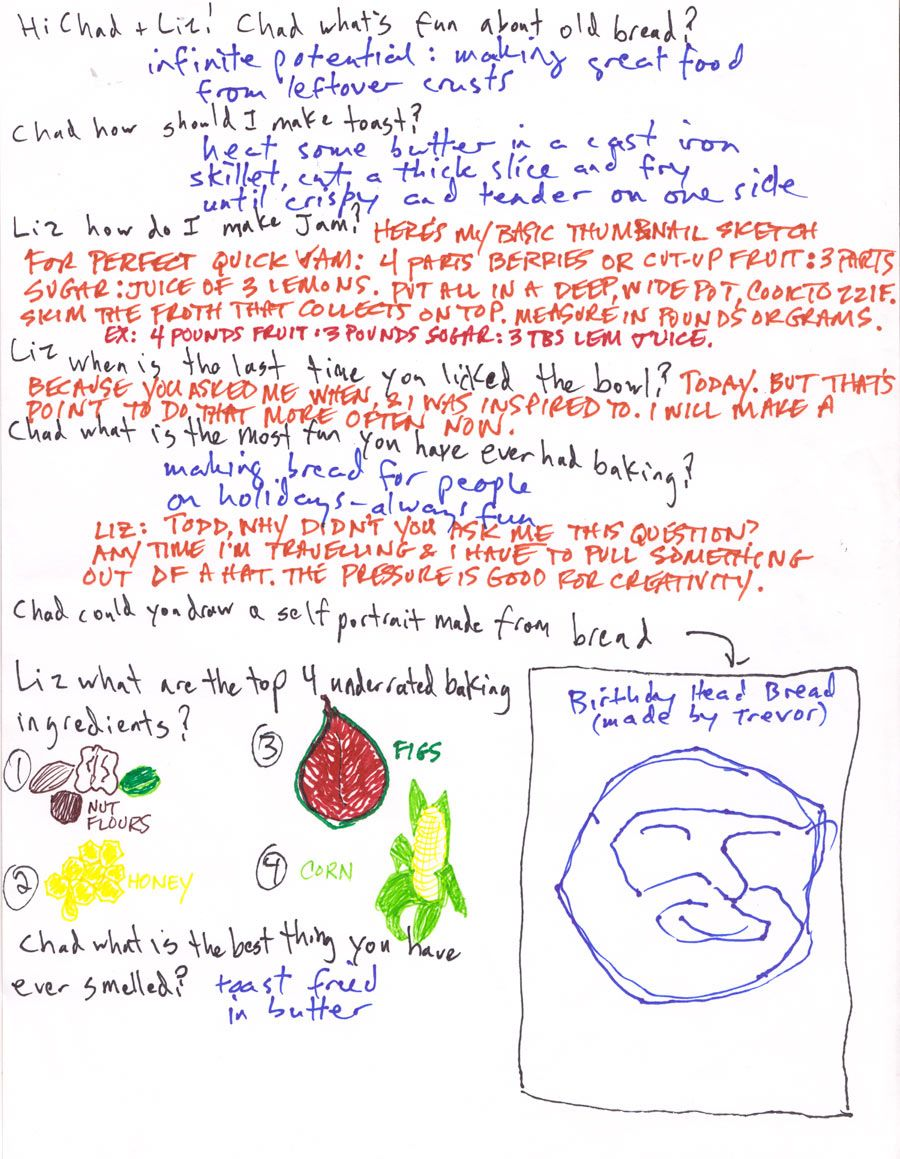 a handwritten jam recipe from Tartine's Elizabeth Prueitt.  Have to try it!