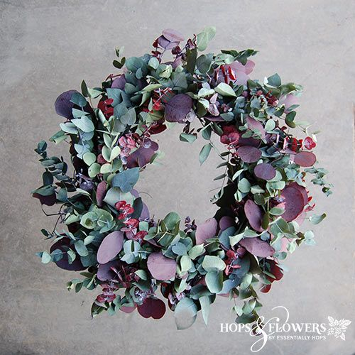 Photo of A beautiful mixed eucalyptus wreath from a 14th