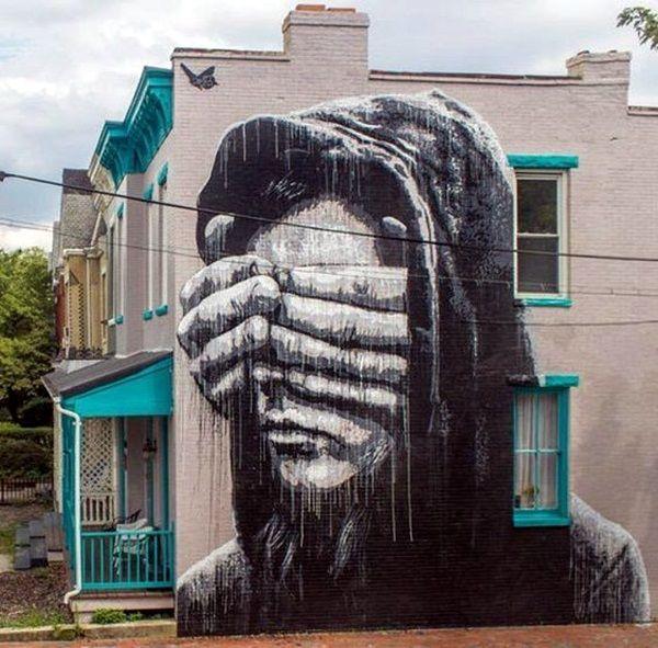 30 Amazing Huge Street Art On Building Walls - Bored Art