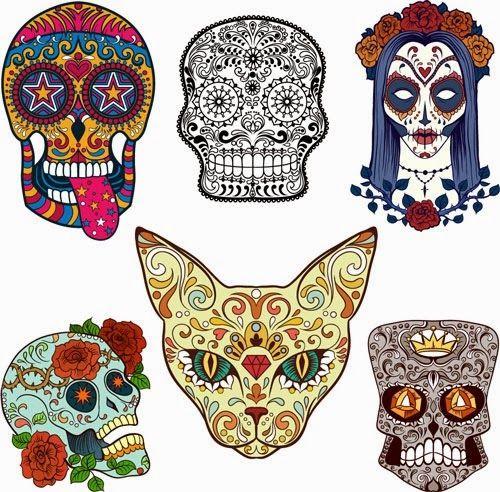 Pin by Dana Alioto on bordado  Pinterest  Sugar skulls Mexican