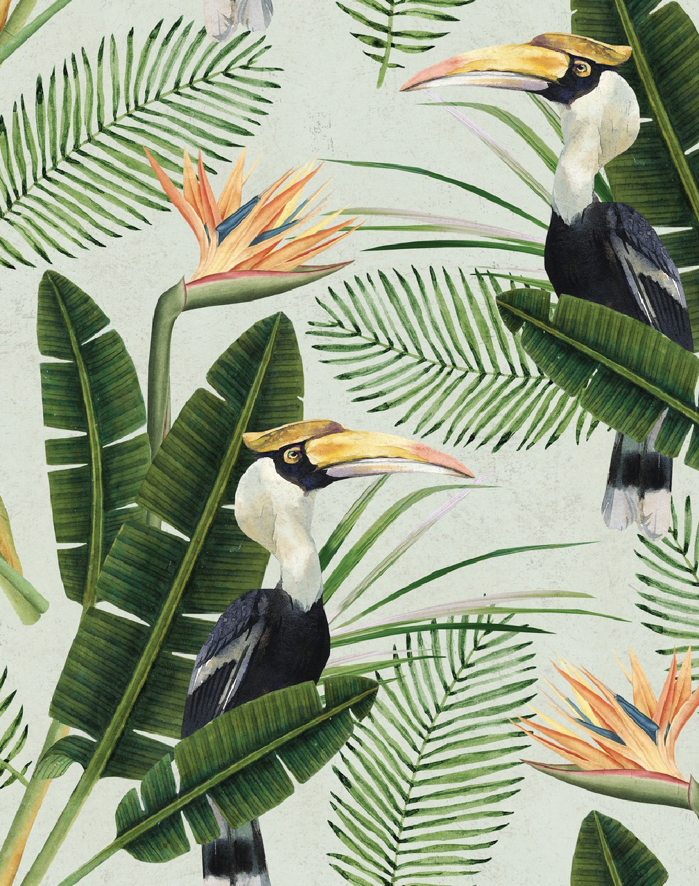Birds Of Paradise Tropical Home Decor Paradise Wallpaper Tropical Interior Design