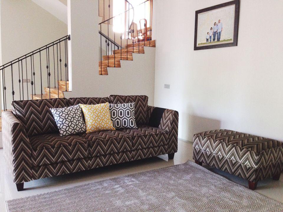 Living Room Chevron Pattern Sofa Chevron Rug Classic Railing