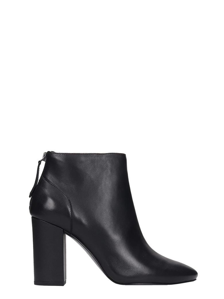 Ash Joy High Heels Ankle Boots In Black Leather Ash Shoes