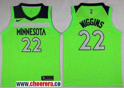 Men s Nike Minnesota Timberwolves  22 Andrew Wiggins Green NBA Swingman  Jersey df1cb4cb7