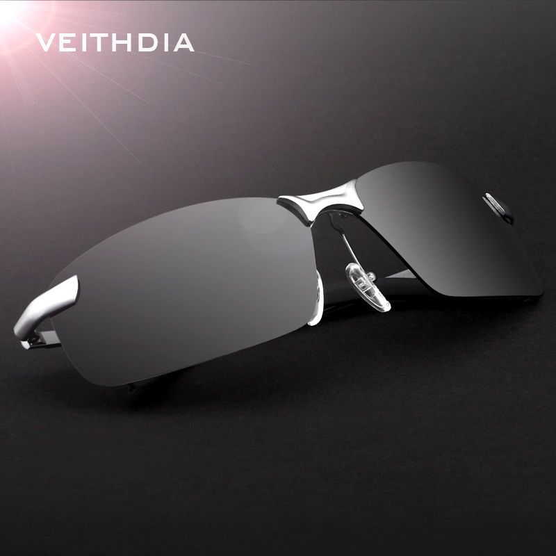 Silver Brand Driving Fishing Glasses Polarized Outdoors Sports Mens Aviator Sunglasses