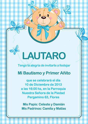 Tarjeta Invitación Para Bautismo Bautismo Invitaciones