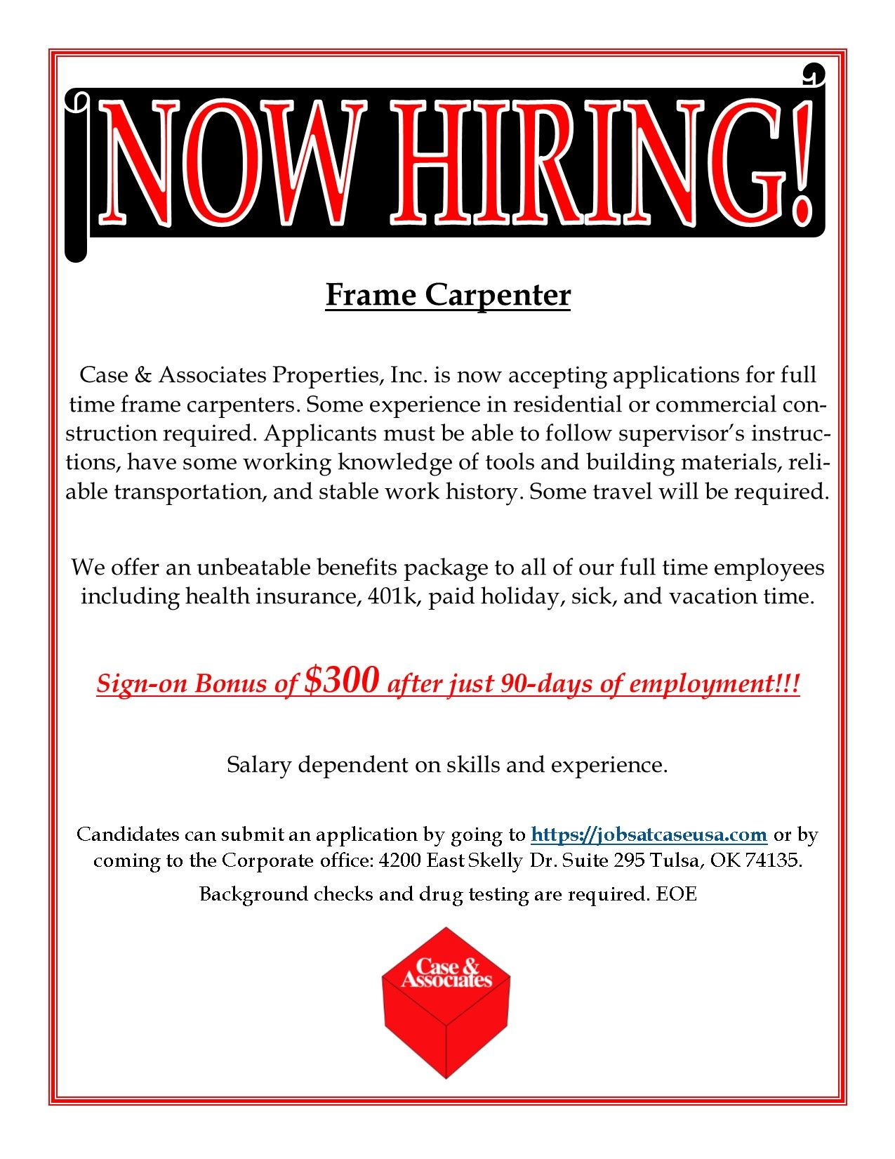 Cae & Associates is now hiring for the OKC and Tusla area for a ...