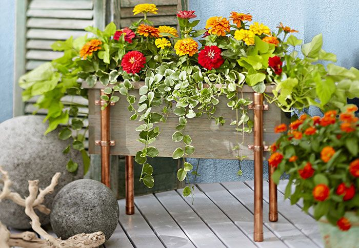 Diy Copper And Cedar Planter Box
