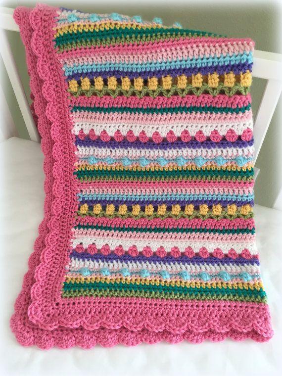 Crochet Baby Blanket Pattern - CROCHET PATTERN - Confetti - by ...