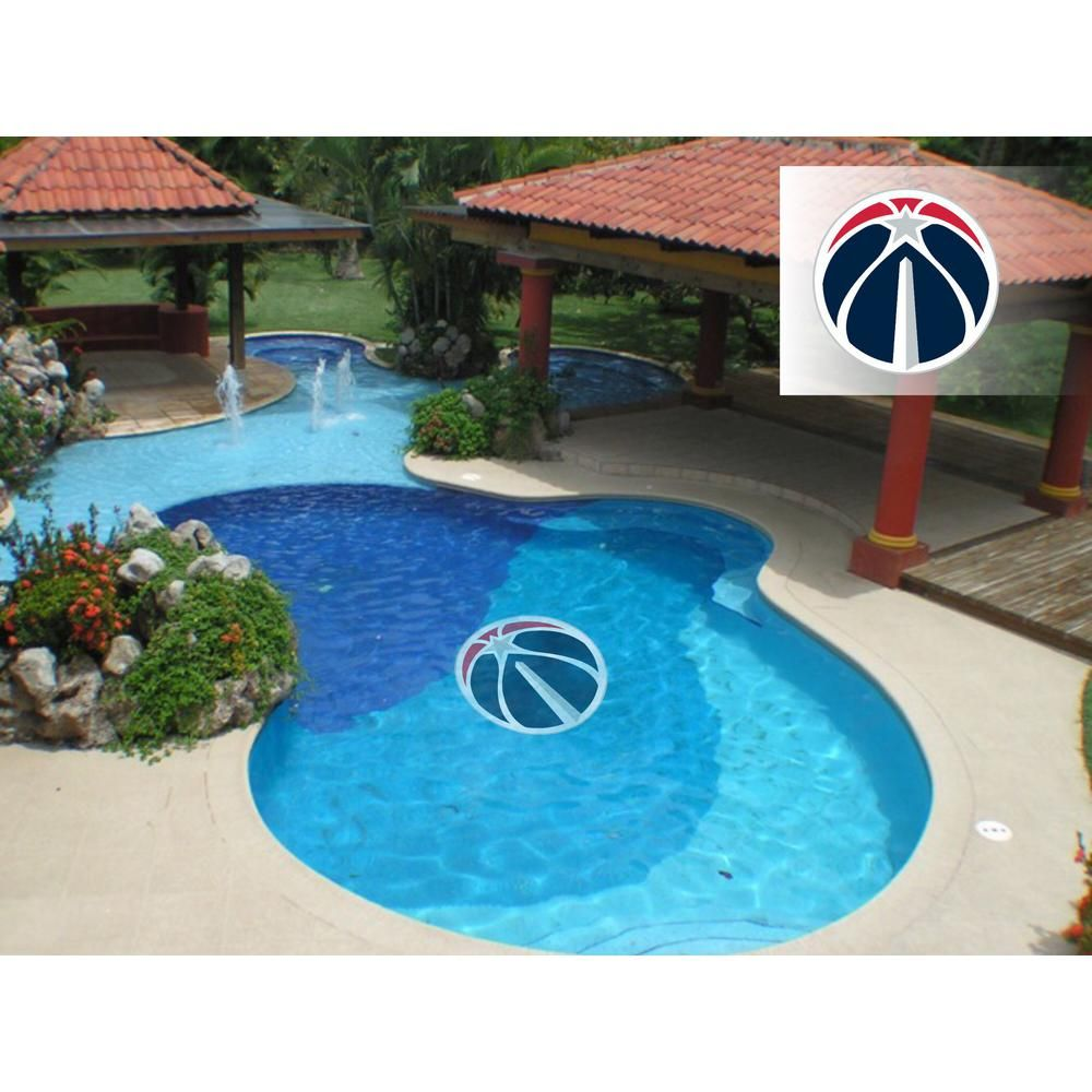 Applied Icon Nba Washington Wizards 59 In X 59 In Large Pool Graphic Nbpo3003 The Home Depot Small Pool Swimming Pools Small Swimming Pools