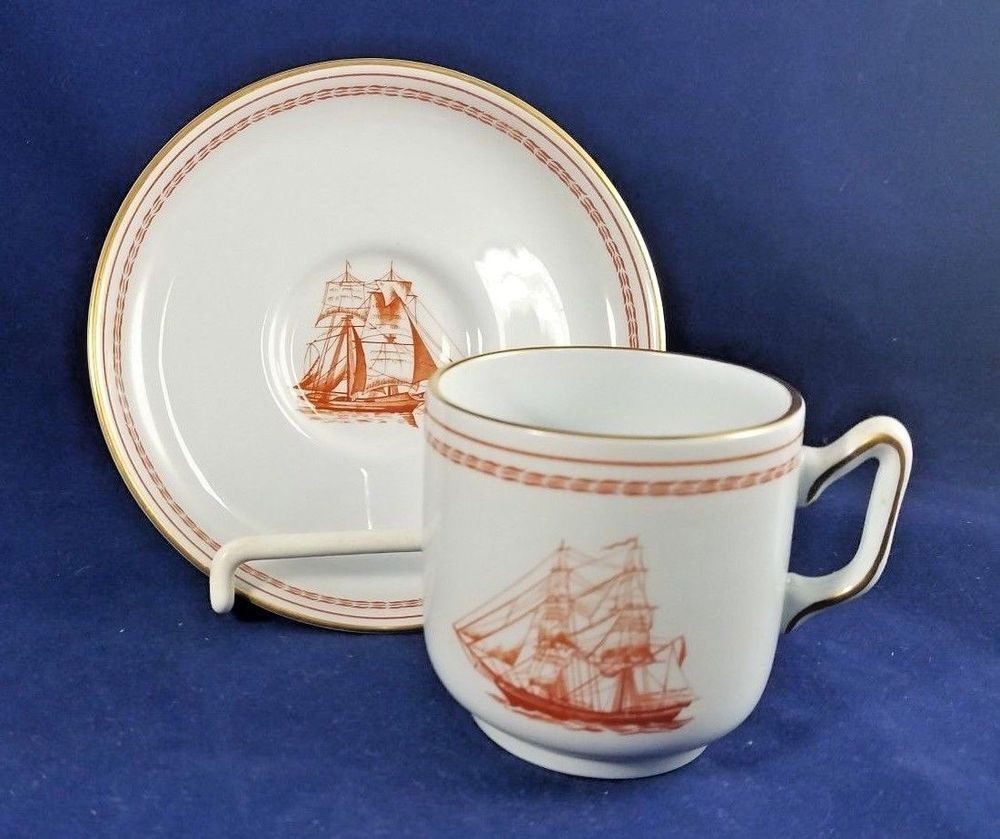 Spode TRADE WINDS RED - Demitasse Cup & Saucer 2 1/4\