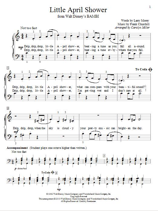Little April showers - Bambi   April showers song, Music
