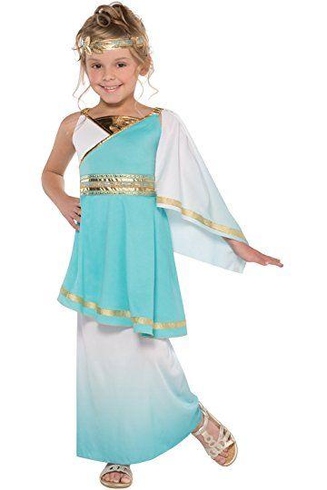 Goddess Imperial Empress Roman Greek Egyptian Girls Fancy Dress Costume