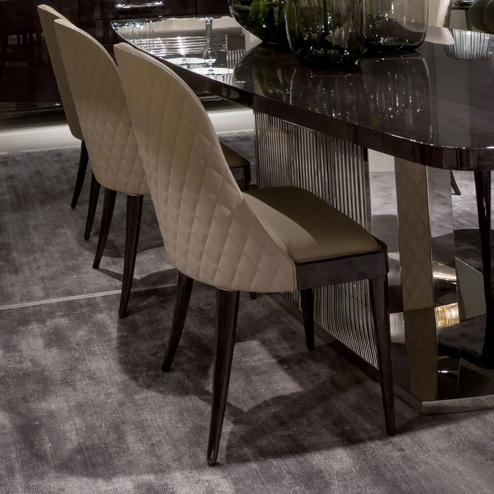 high end dining chairs. High End Designer Italian Quilted Leather Walnut Dining Chair Chairs I