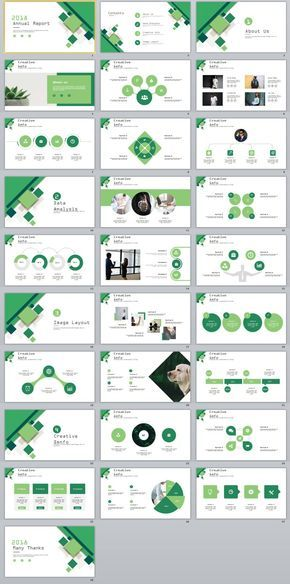 28+ green business annual report charts PowerPoint Template