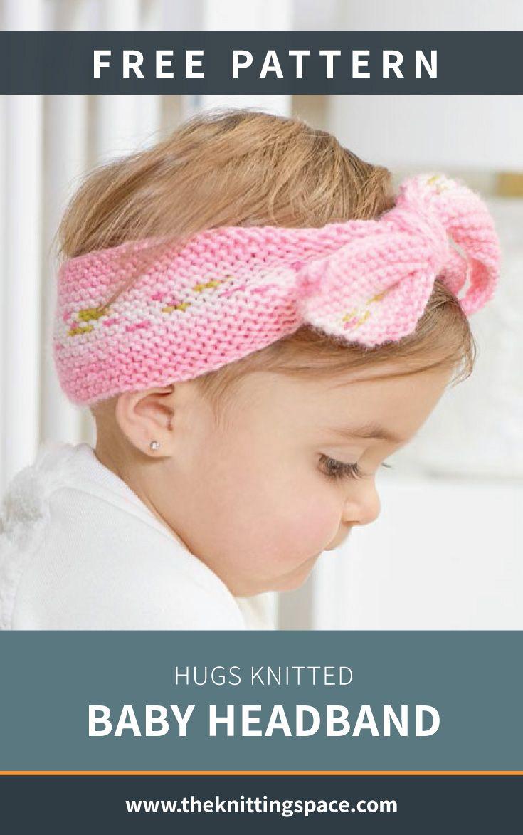 Hugs Knitted Baby Headband [FREE Knitting Pattern]