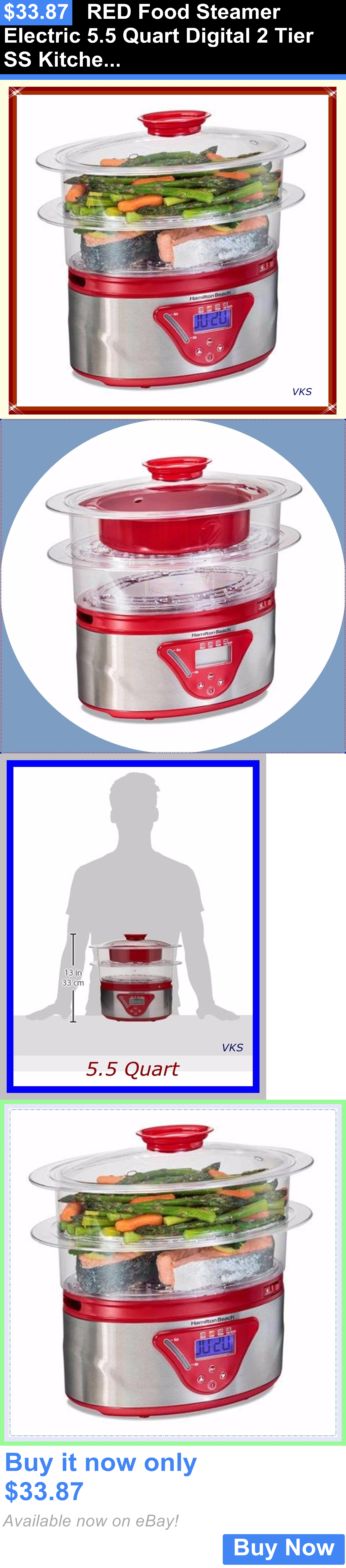 Food Storage For Small Kitchen Small Kitchen Appliances Red Food Steamer Electric 55 Quart