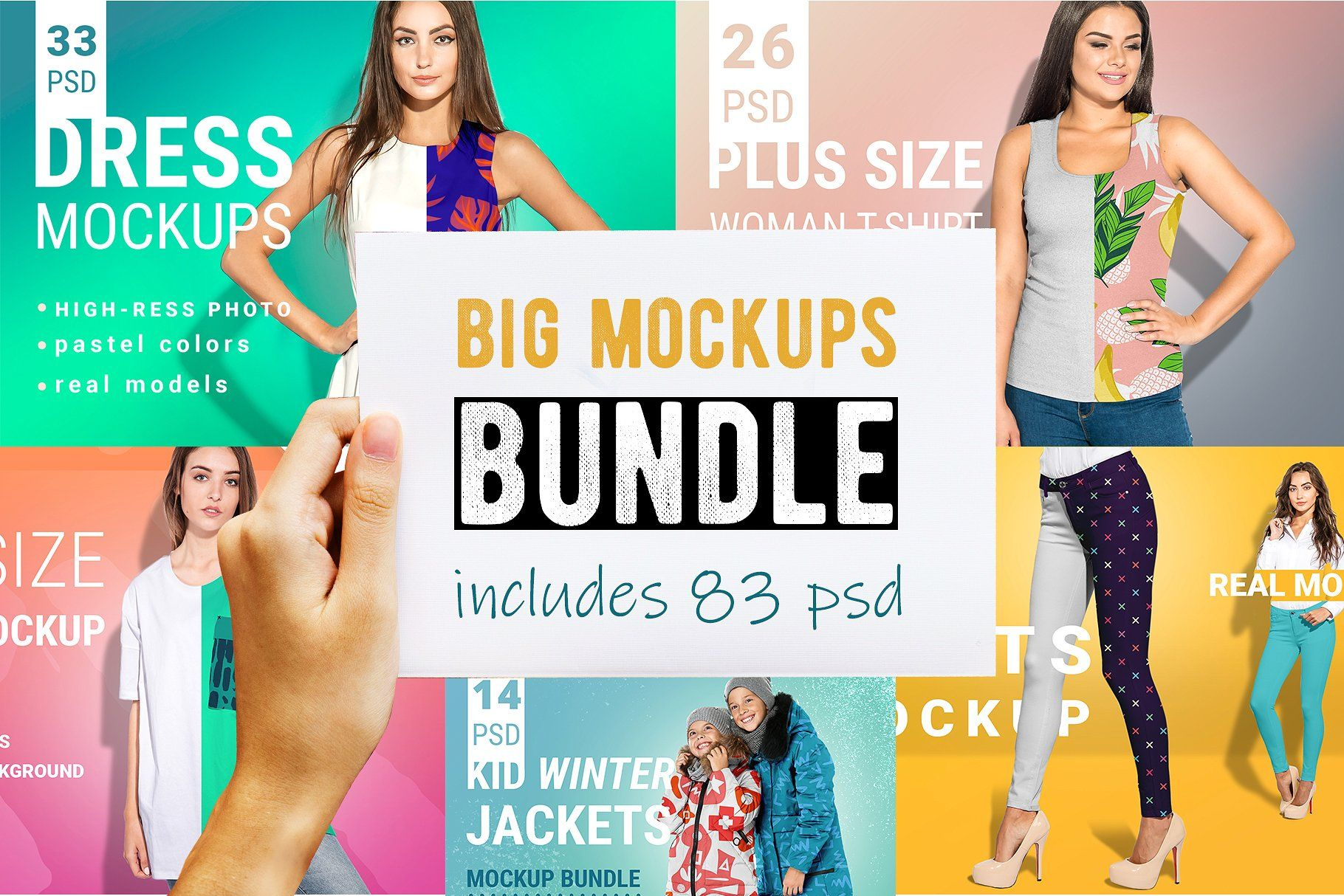 Download Sale Fashion Mockup Bundle 60 Off Kids Winter Jackets Shirt Mockup Winter Jackets